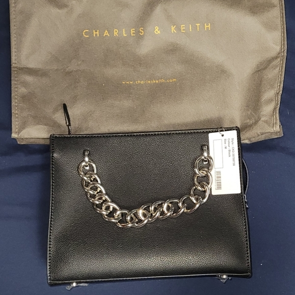 Charles & Keith Chain Accent Bag